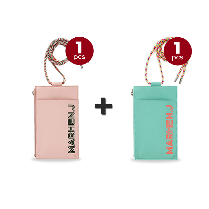 Marhen J Lolly Bag - Baby Pink + Neo Mint