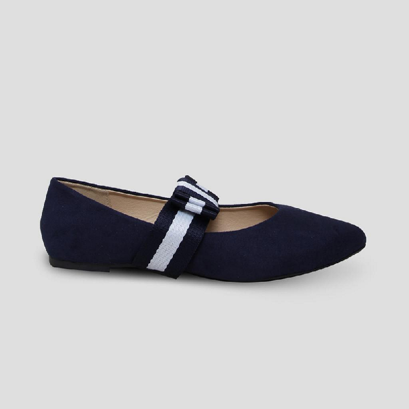 The Little Things She Needs Flat Shoes Marsala Navy