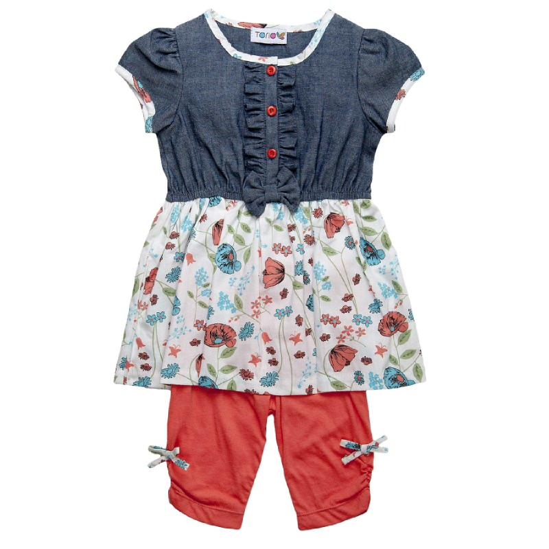 Azure Garden Dress & Legging Set