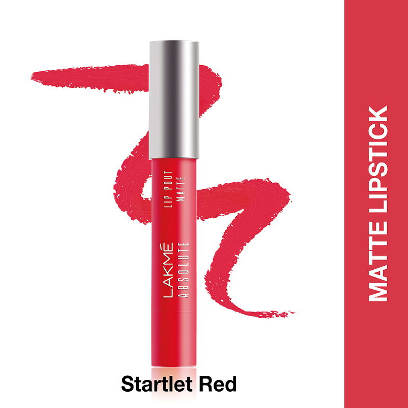 Lakme Absolute Reinvent Lip Pout Matte Starlet Red