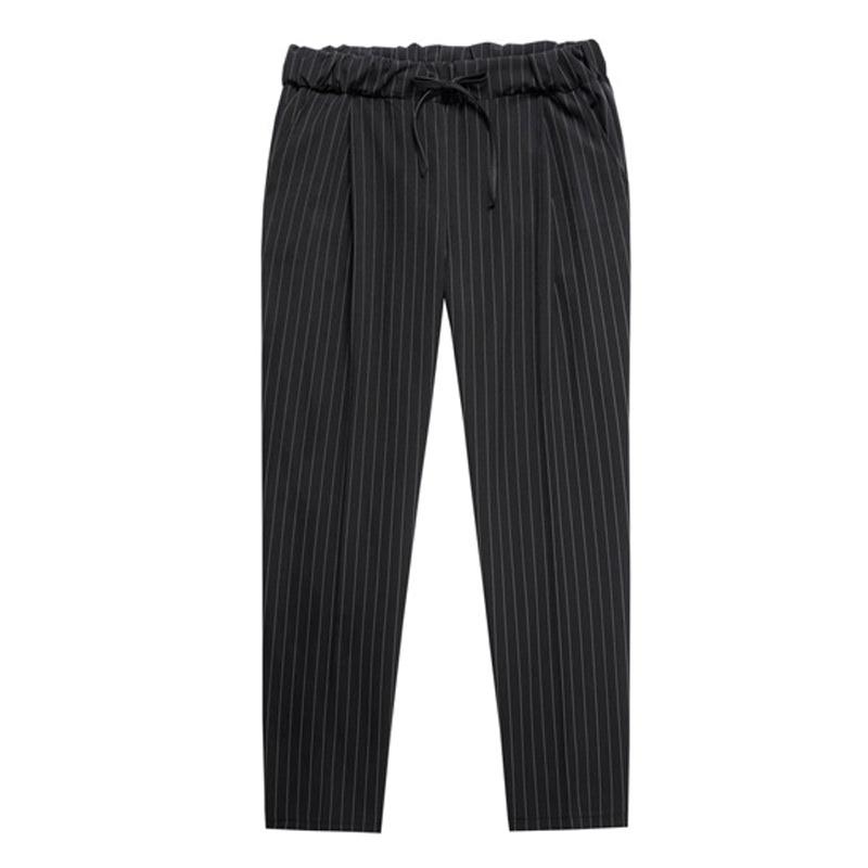 MM_Stripe Banding Slacks - Black