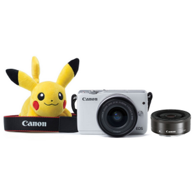 Mirrorless Camera EOSM10 Kit 1545 + 22 MM + Pokemon Doll