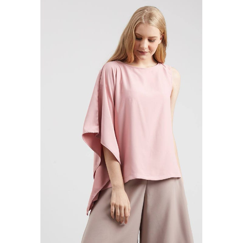 Val Drape Top Pink