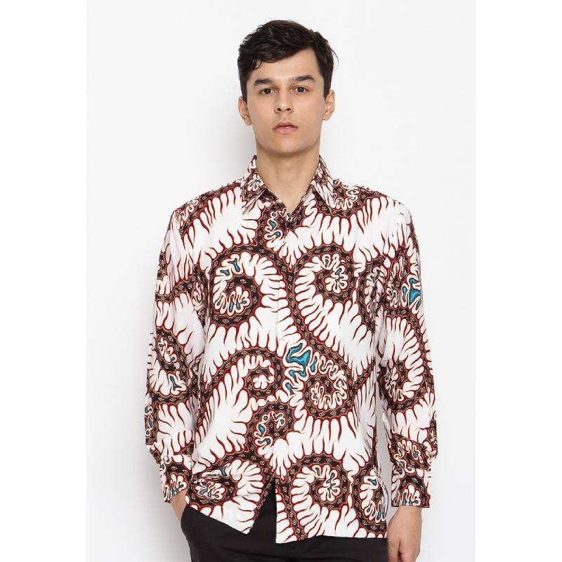 Batik Lengan Panjang KB-32975 White