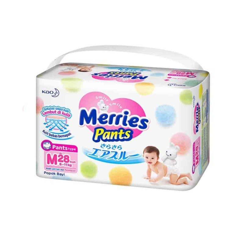 Merries Popok Bayi Premium Pants Size M 28S