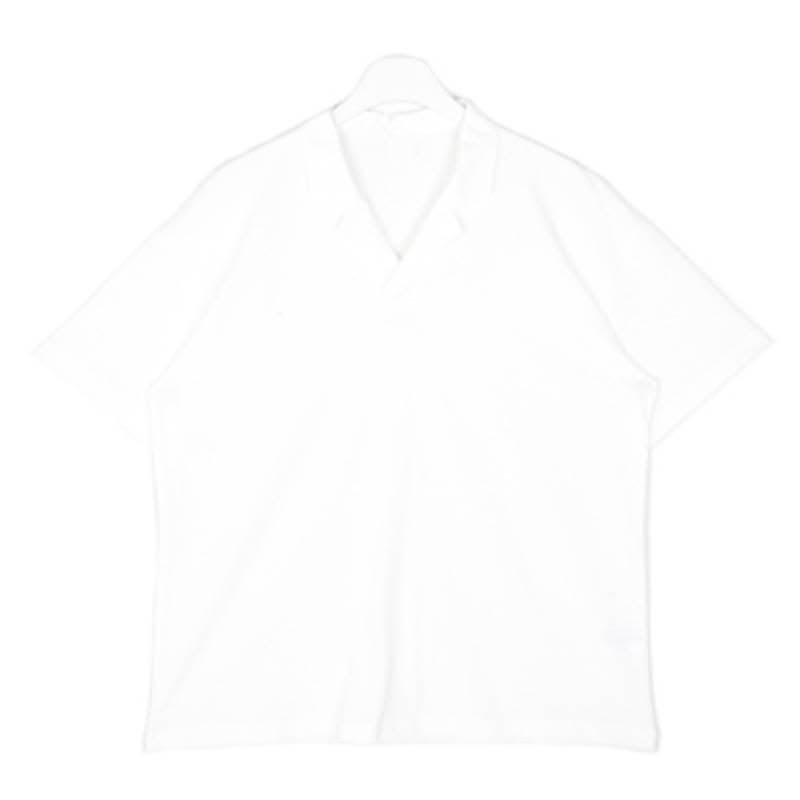 Black Swan Open Collar T-shirt - Ivory