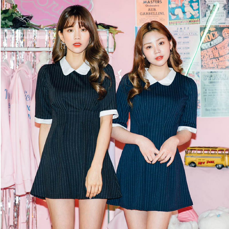 ICECREAM12 The classic and want me dress Navy