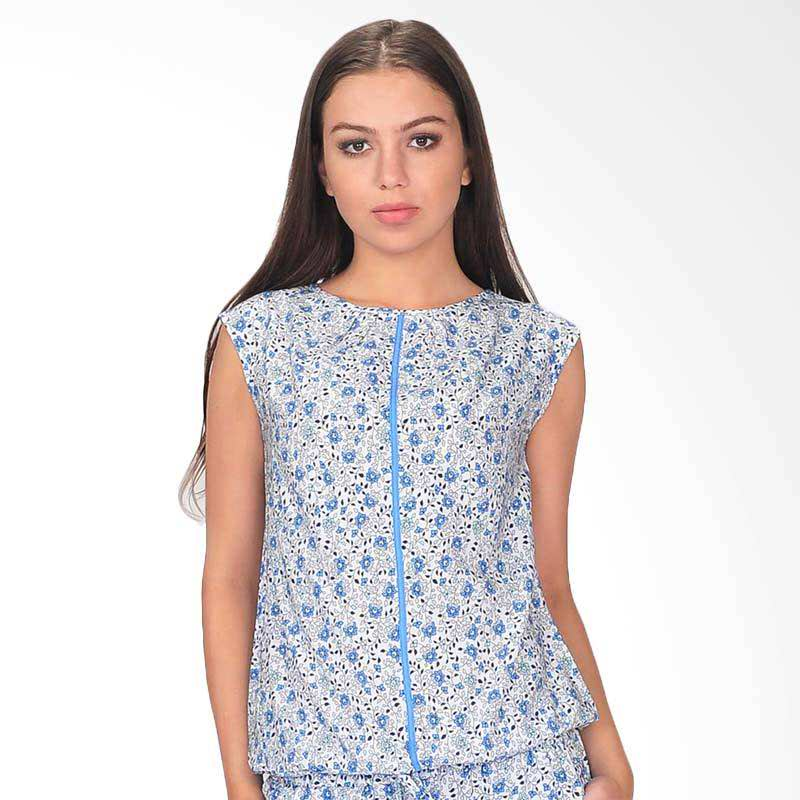Experence Print Women's Blouse - Whi