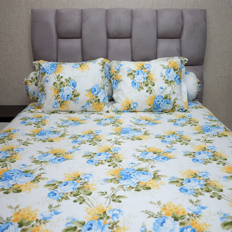 Sleep Buddy Set Sprei Sweetberry Rose Blue CVC 200x200x30