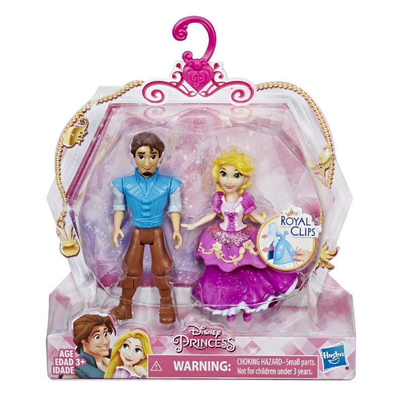 Disney Princess Rapunzel and Eugene - 2 Dolls, Royal Clips One-Clip Skirt DPHE3081