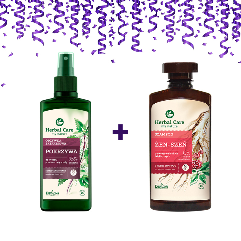 Herbal Care Nettle Conditioning Spray 200 Ml + Ginseng Shampoo 330 Ml