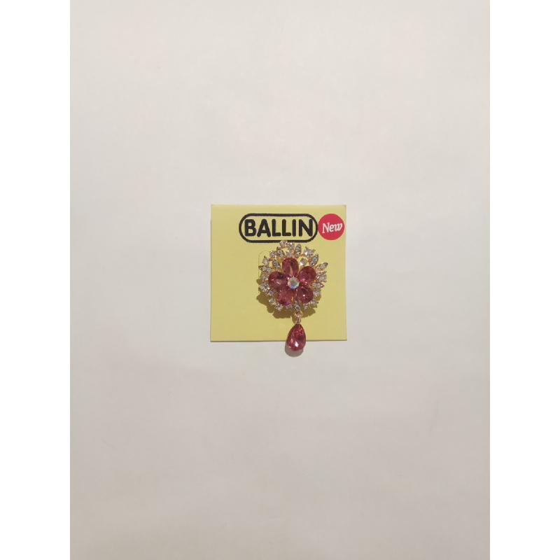 Ballin - Women Brooch LF BRXZ8065 G Red