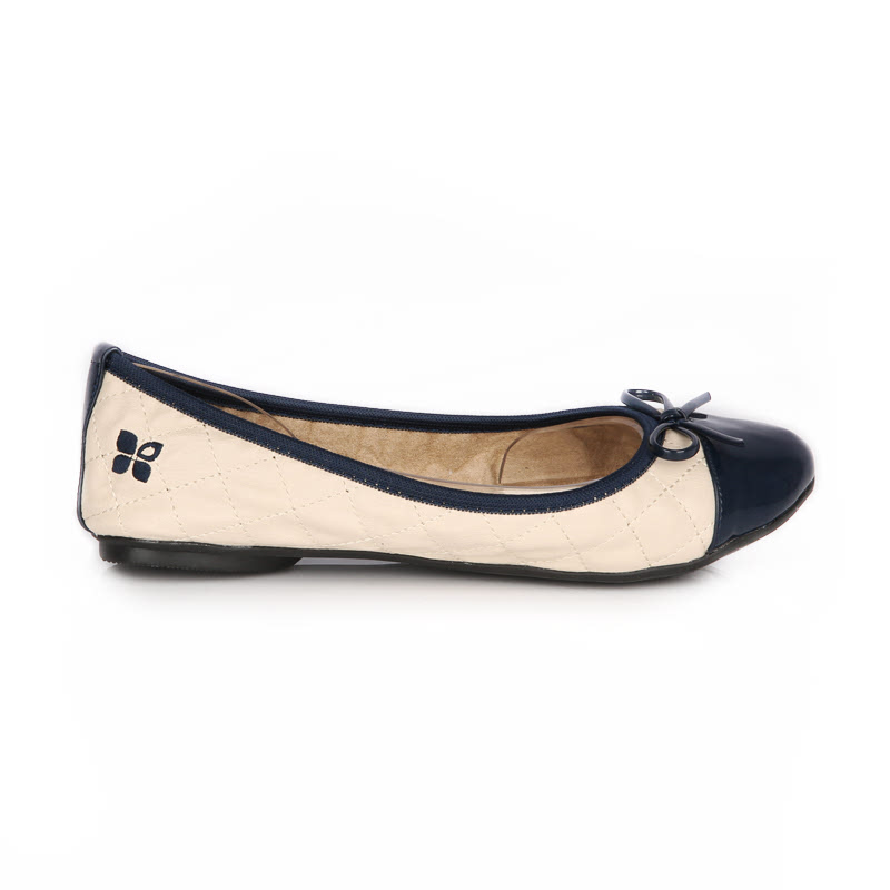 Butterfly Twists Sepatu Flat Olivia Cream Navy Size
