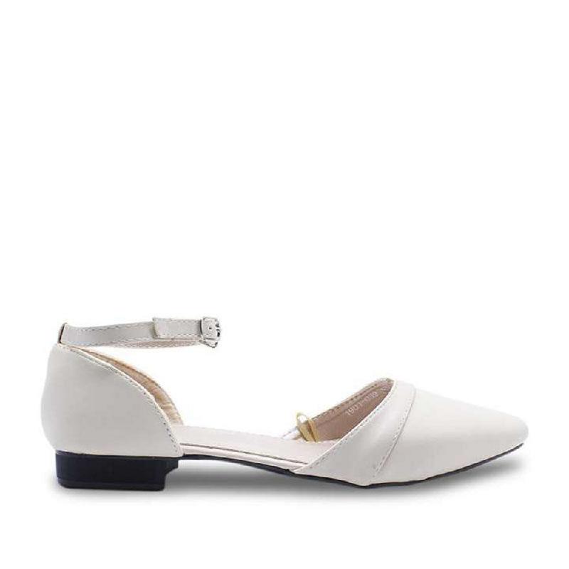 DEA Pointed Cutout Flat Shoes 1808-039 Beige