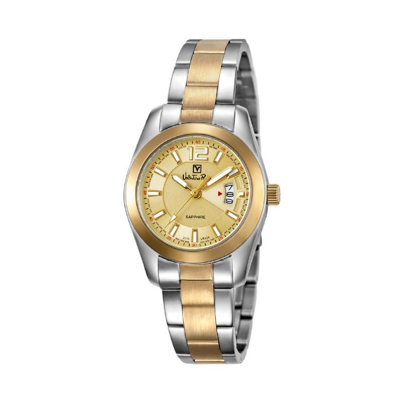 Valentino Rudy VR124-2125 Jam Tangan Wanita Silver Gold