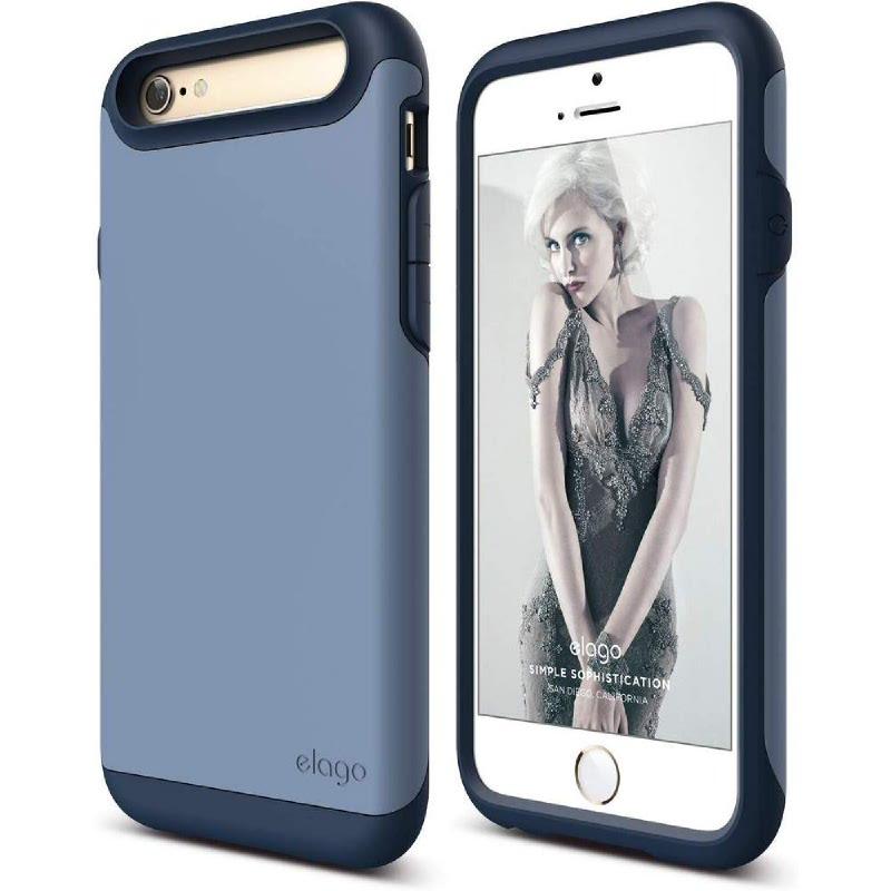 Elago Duro Jean Indigo Case for iPhone 6, 6S - Jean Indigo + SF Royal Blue