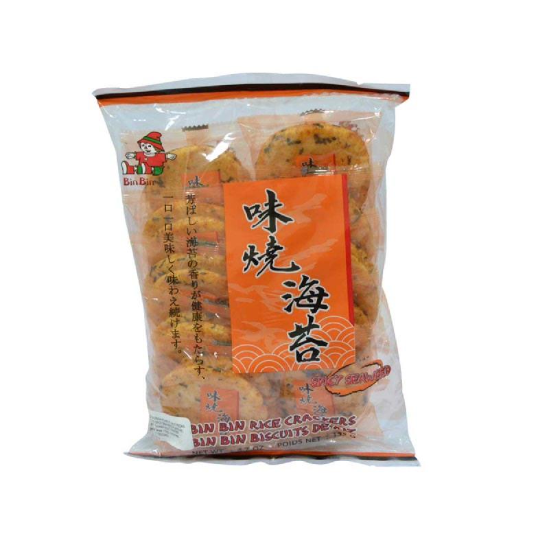 Bin-Bin Rice Cracker Rasa Rumput Laut Pedas 135g