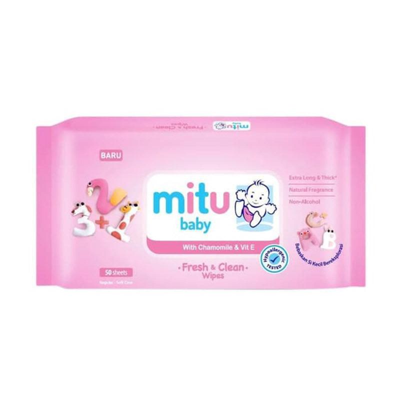 Mitu Wipes Pink 50 Sheets