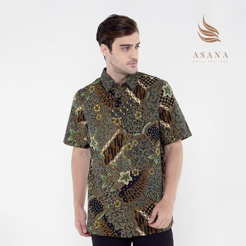 Asana Batik Short Sleeve SSWB39GRN Green