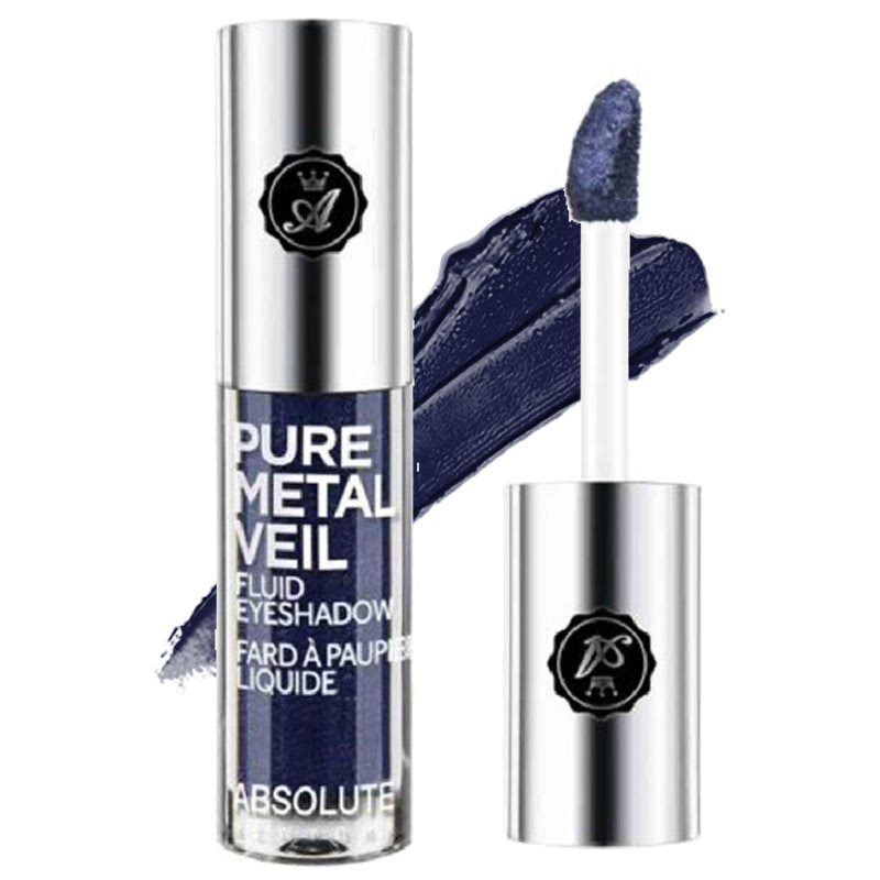 Absolute New York Pure Metal Veil Fluid Eyeshadow Midnight Marine