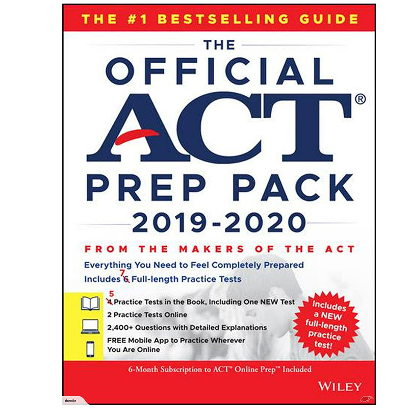 The Official ACT Prep Pack 2019-2020 with 7 Full Practice Tests, (5 in Official ACT Prep Guide + 2 Online) 1st Edition