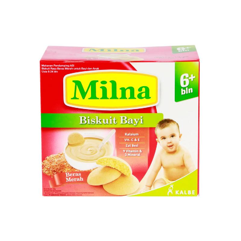 Milna Biskuit Bayi Rasa Beras Merah Box 130 Gr