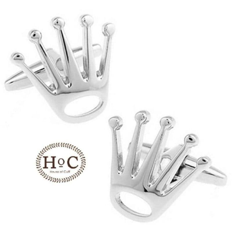 House Of Cuff Cufflinks Manset Kancing Kemeja Crown Logo Cufflinks