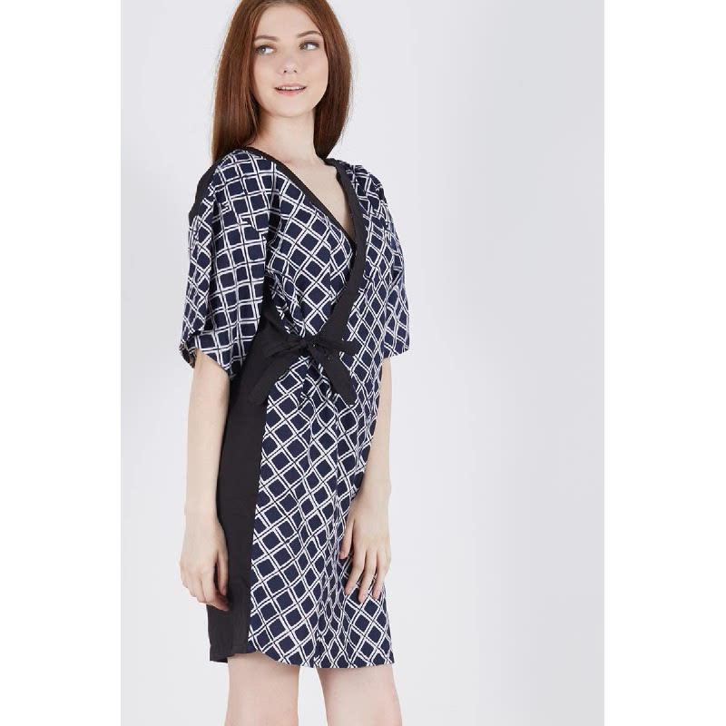 Sherriena Batik Dress Blue