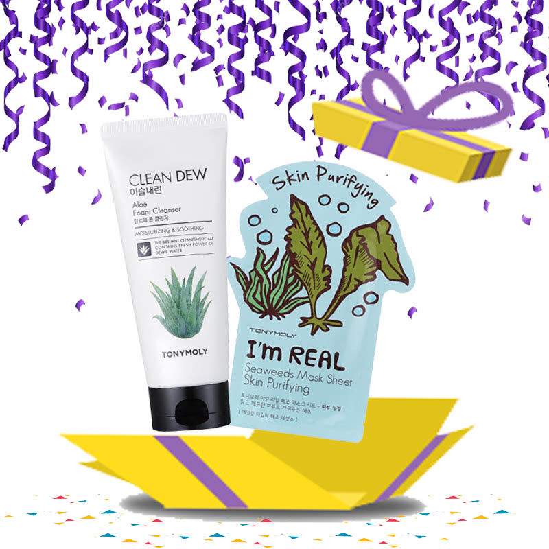 Tony Moly Buy Clean Dew Foam Cleanser Aloe Free I Am Real Swaweeds Mask Sheet Skin Purifying