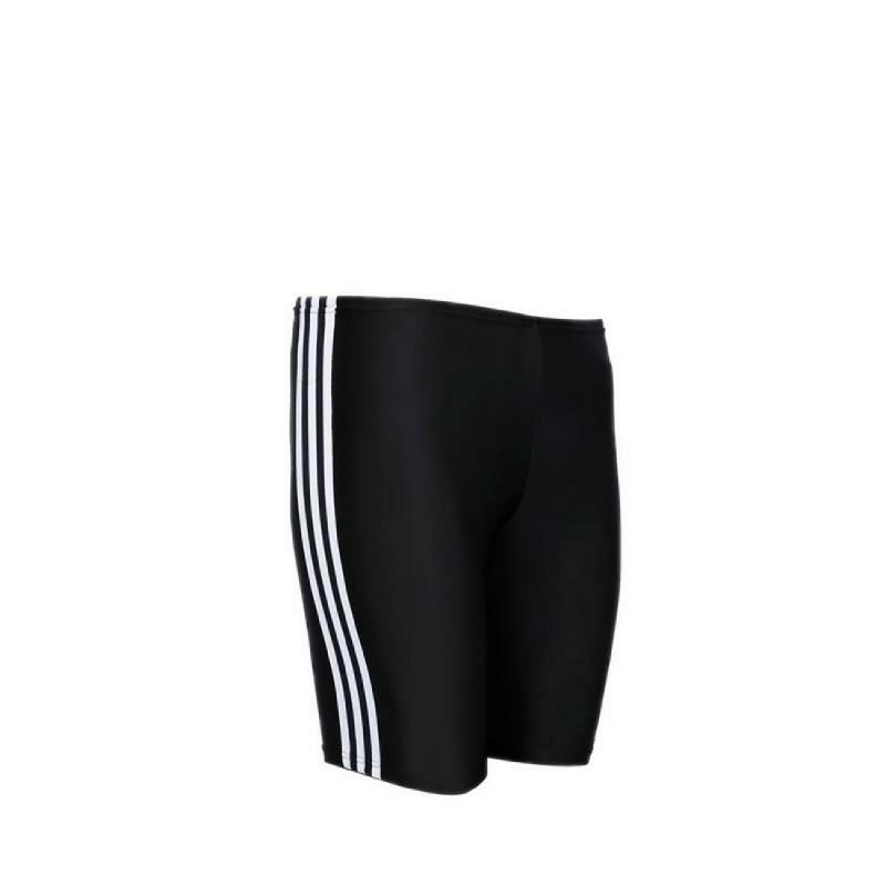 Adidas Swim Junior Fitness Jammer 3 Stripes Boys Swimwear Black