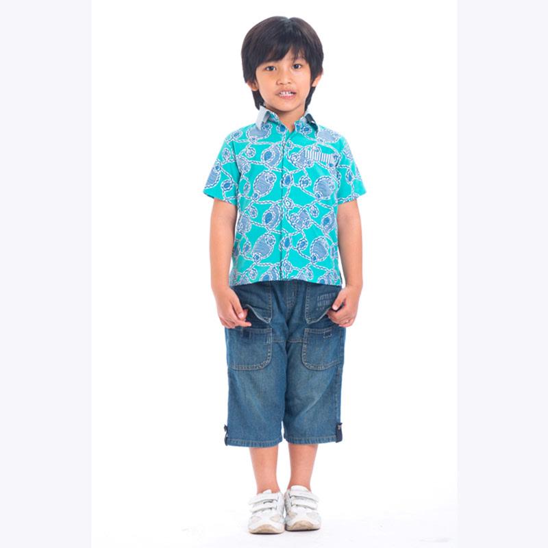 (3-6) Short Sleeve Mix Stripe Shirt 071