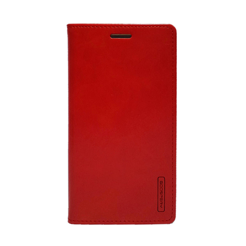 Goospery Biru Moon Flip for Samsung Galaxy S7 - Merah
