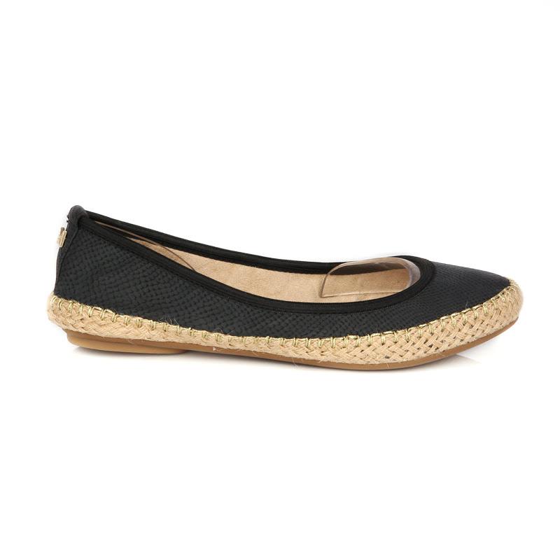 Butterfly Twists Sepatu Flat Gigi Black Snake