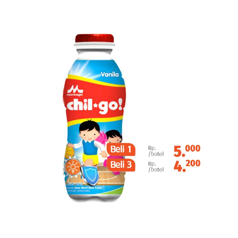 Morinaga Milk Chil Go Vanila Botol 140Ml (Beli 3 Lebih Murah)