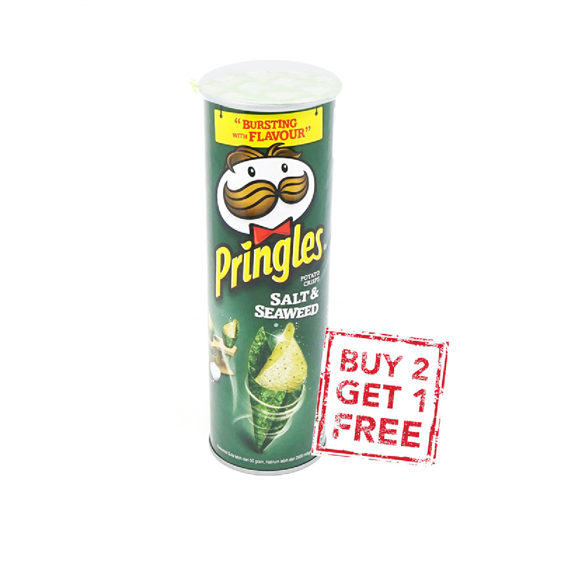 Pringles Salt & Seaweed 110G (Buy 2 Get 1)
