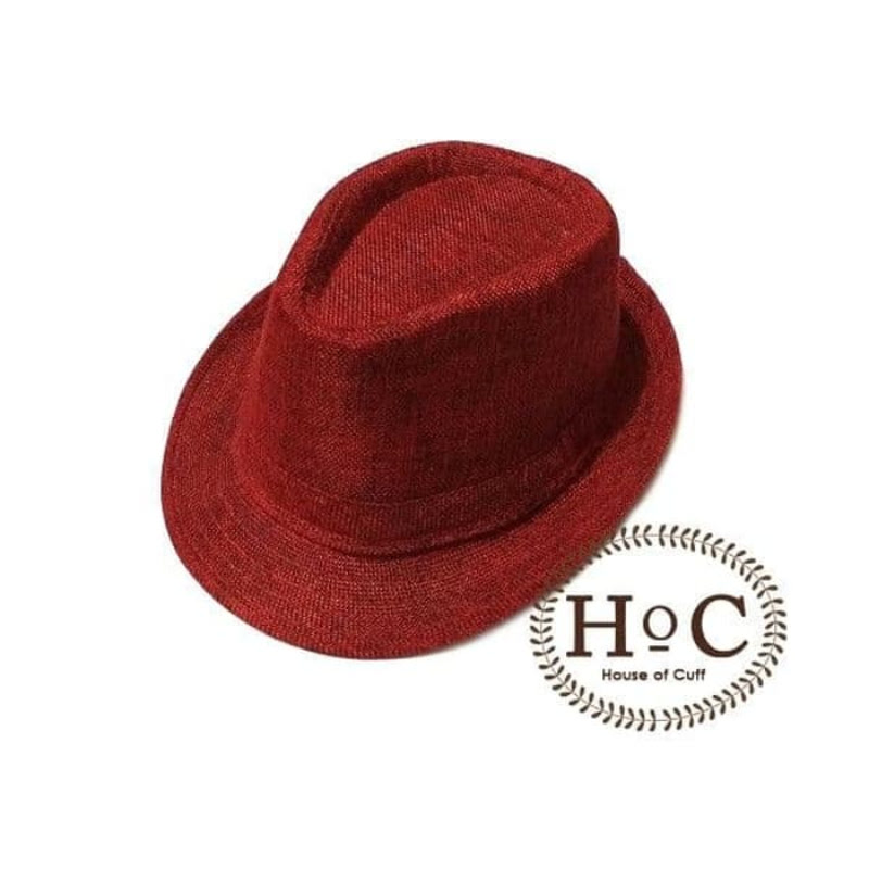 House Of Cuff Topi Fedora Hat Red Flux