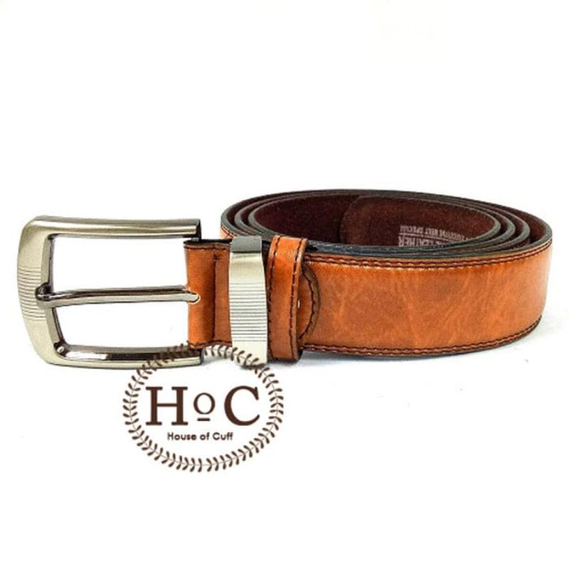 House Of Cuff Suspender Gesper Belt Wedding Best Man Brown Belt 01 - Coklat