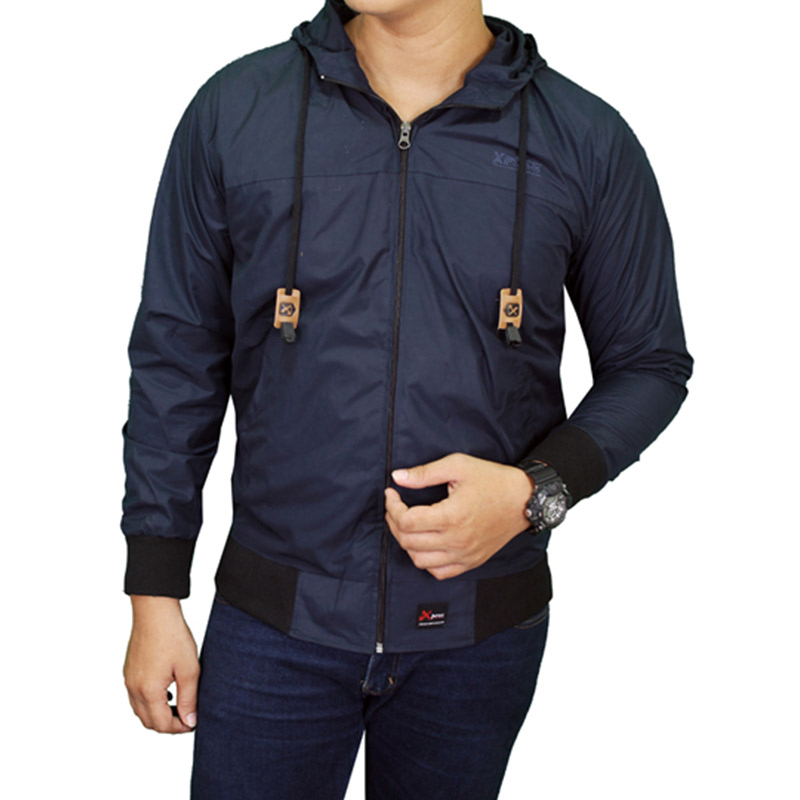 Gudang Fashion Jaket Parasut Pria Parasut  Navy
