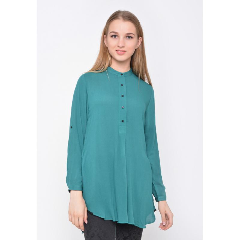 Agatha Agatha Mandarin Collar Shirt Green