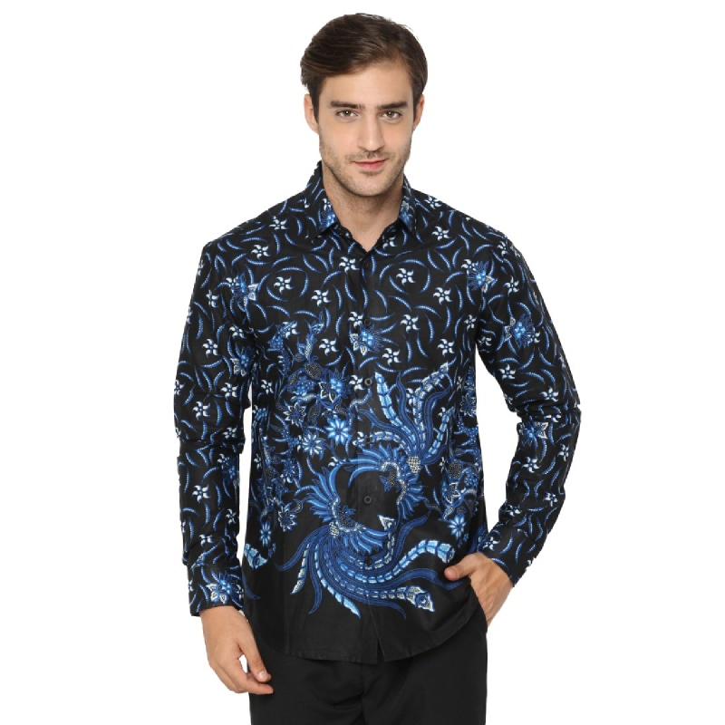 Agrapana Abhitah Slim Fit Kemeja Batik Print Lengan Panjang