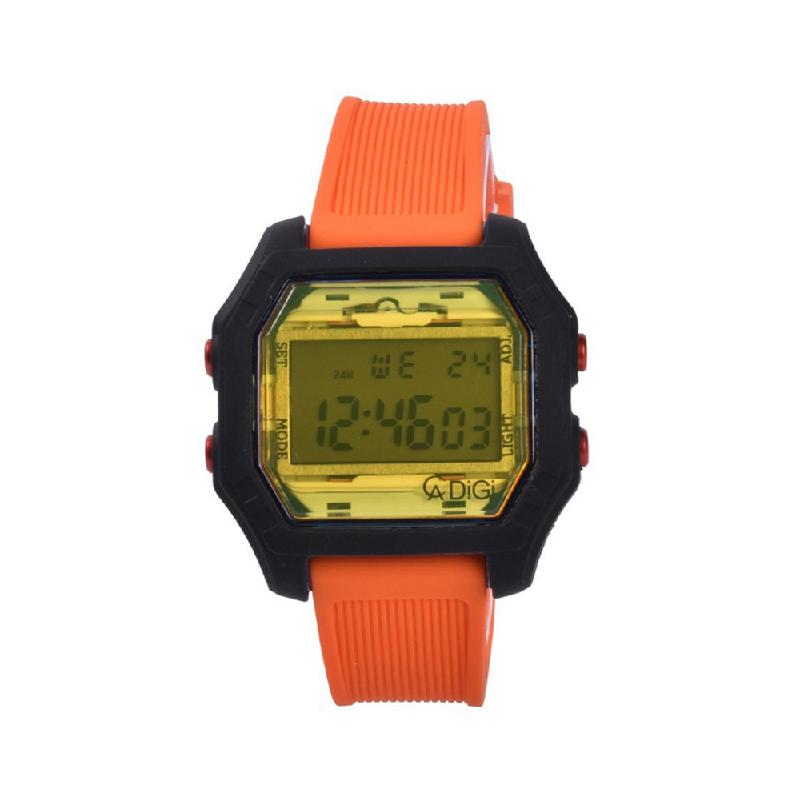 Alexandre Christie AC 9224 MERIUSLOR Jam Tangan Digital Rubber Strap Orange