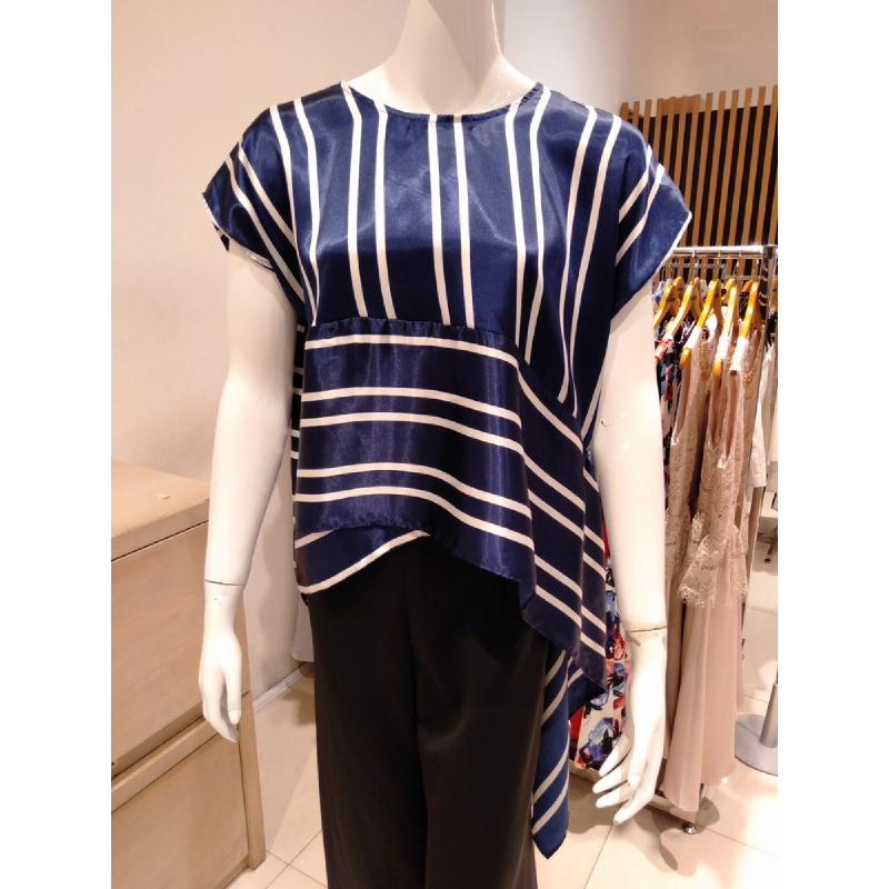 Basa Uma Blouse Blue Stripe