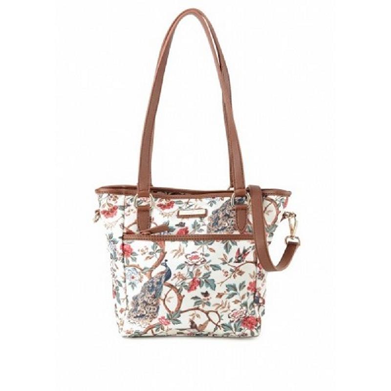 Phillipe Jourdan Leah Satchel Bag Cream