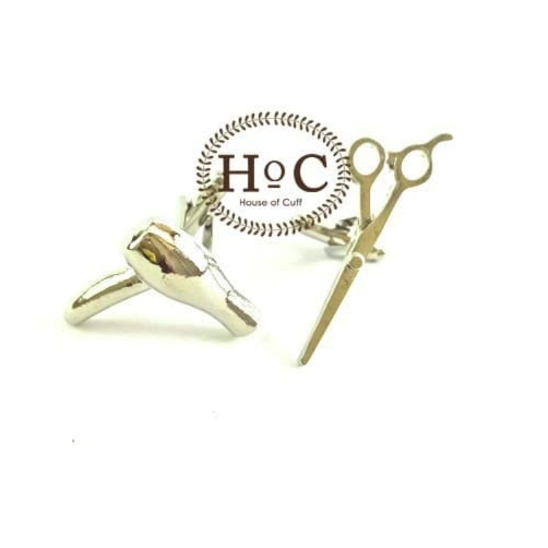 House Of Cuff Cufflinks Manset Kancing Kemeja French Cuf Barber Silver