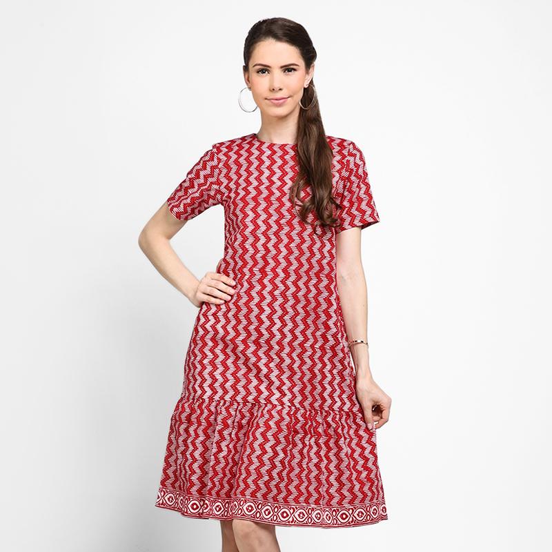 Astari Batik Dress Rumbai Red