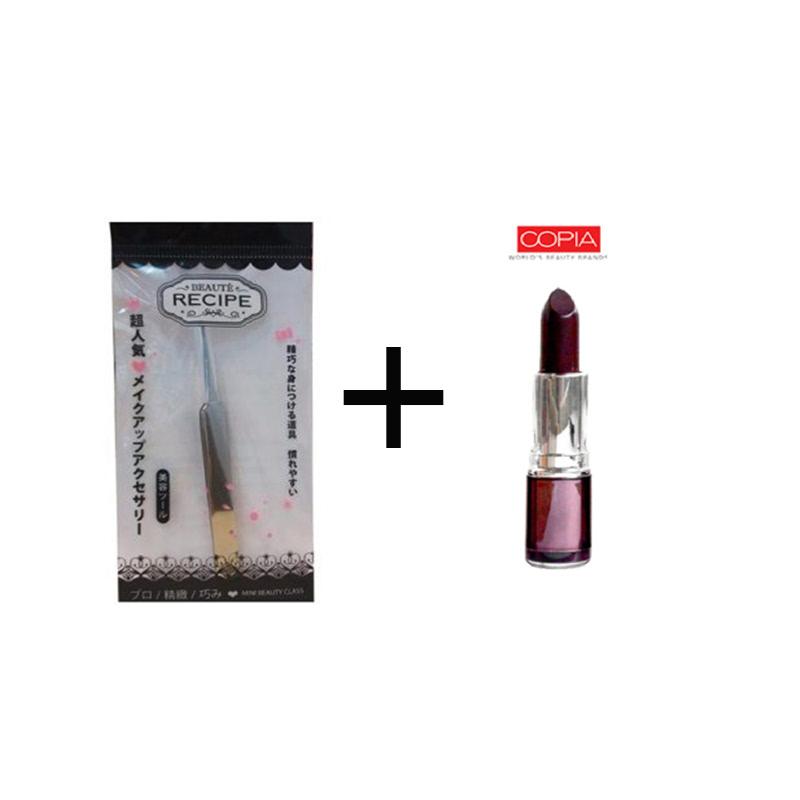 Beaute Recipe Acne Clip 1663 + Be Matte Lipstick Grape Wine