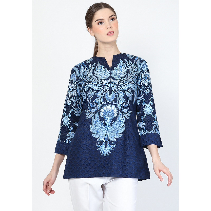 Adinata Batik Sarisha Felycia Tunik Blue