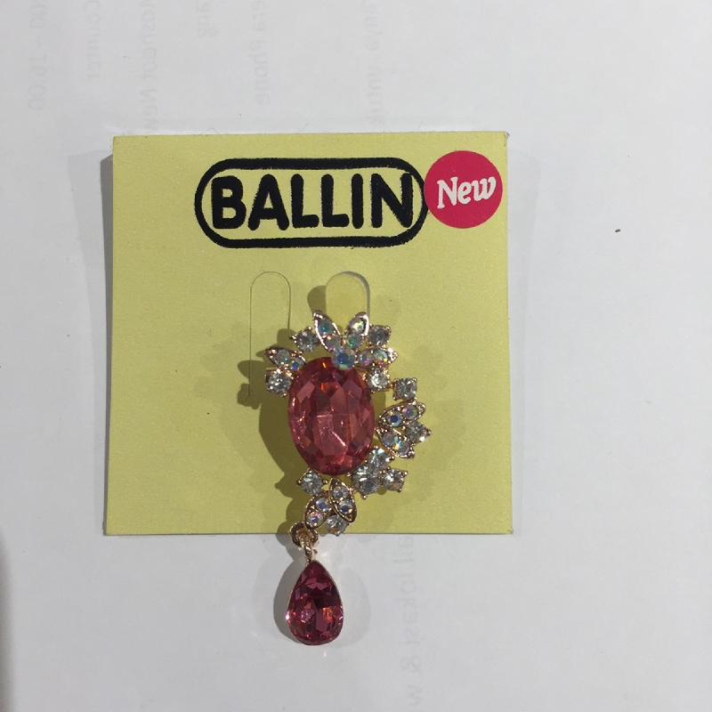 Ballin Women Brooch LF-BRXZ8065G-9 Red