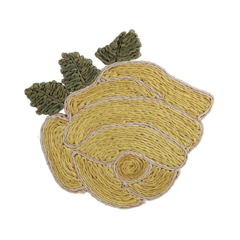 Rumah Amasti D0027 mawar kuning, placematt cassava fiber