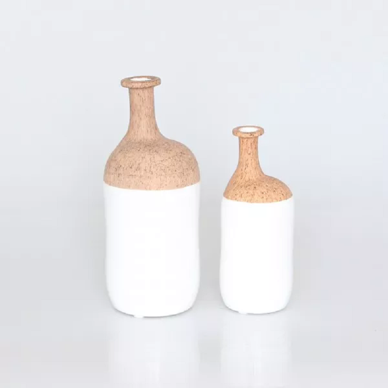 VASE DECO CORK TWISTBOTTLE BRO9X9X20CM